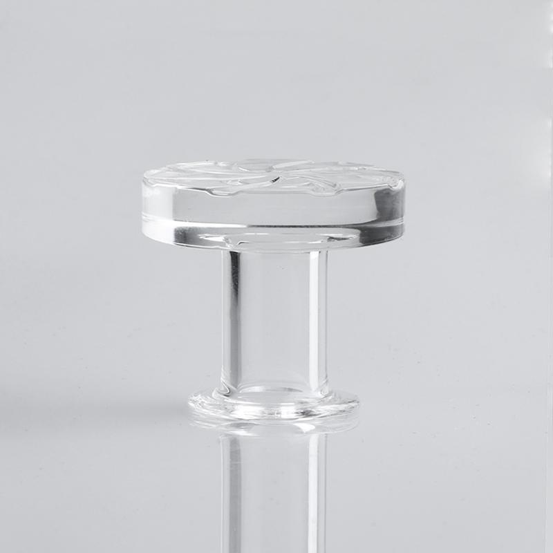 32oD quartz sculpture spinner capuchon transparent Casquettes de glucides pour 20mm 25mm 30mm TOP TOP TOP DE QUARTZ BANGER NAILS HUILE RIGS BONGS D'ALIMENTATION