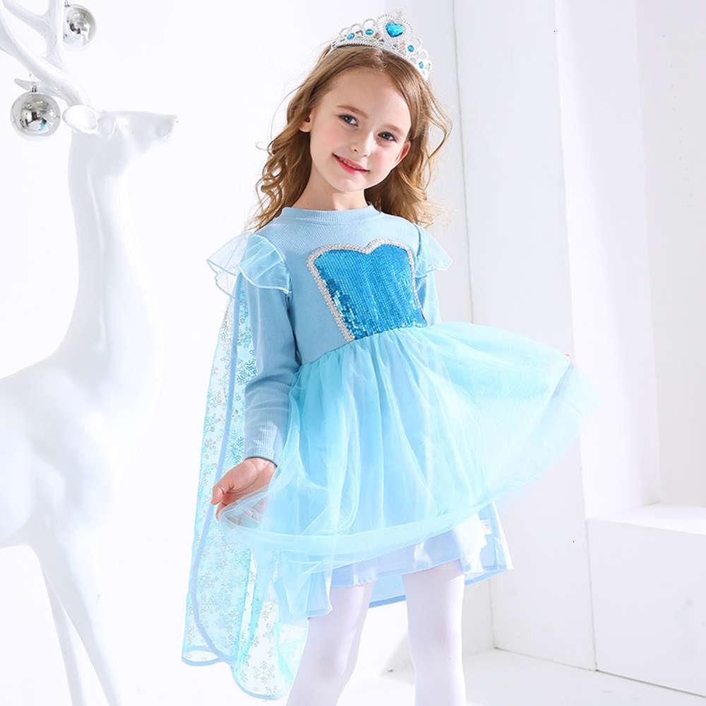 Aisha Yeni Buz Kar Sonbahar Prensleri Çocuk 2020 Ayrılabilir Cape Boncuk Mh Girl's Drs