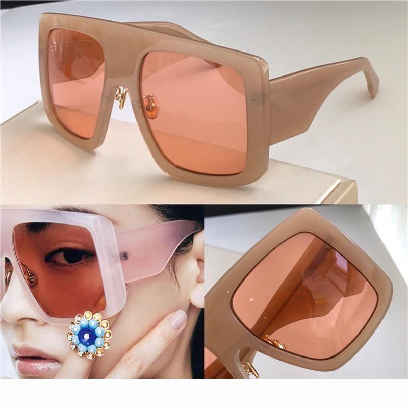 Neue Mode Frauen Sonnenbrille Power Große quadratische Rahmenbrille Top Qualität UV-Schutz Eyewear Beliebte Avantgarde-Stil Catwaik