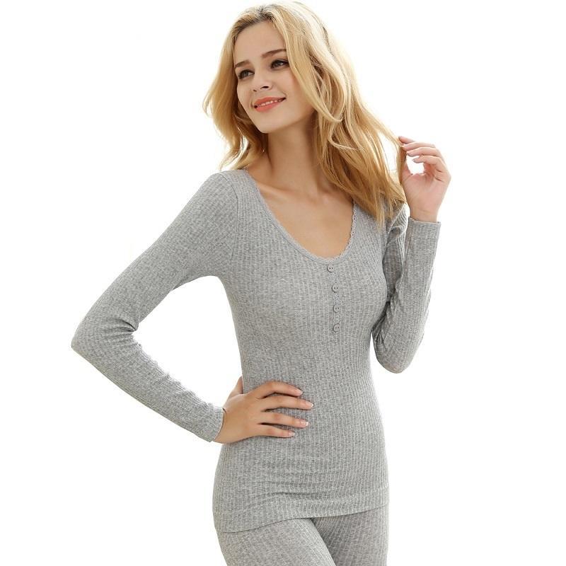 Roupa interior térmico Quatro grãos de lã de fivela quente laço sem costura de inverno sexy cultivar moralidade em forma de roupa interior conjuntos mulheres 20124