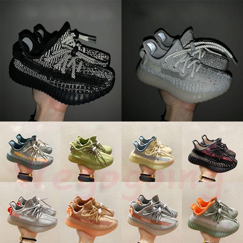 Adidas Yeezy Boost 350 Designer Kids Chaussures 2020 Kanye 700 Runner v3 Mauve vague ALVAH Azaël Bambins formateurs v2 Antlia enfants Sneakers Clay Noir Triple Blanc