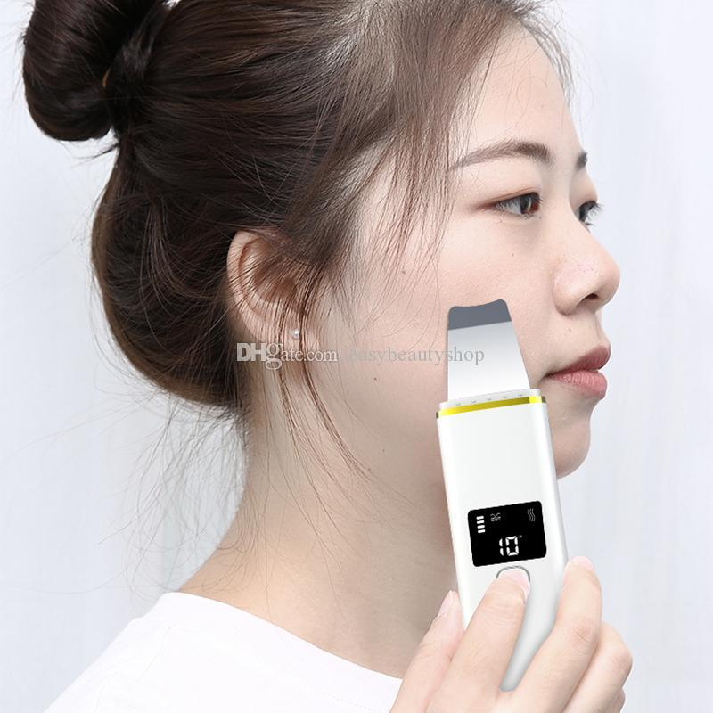 microdermabrasion الرئيسية استخدام منتجات الجمال الكهربائية الوجه القتلى تقشير سونيك الوجه تنظيف ملعقة بالموجات فوق الصوتية سكر