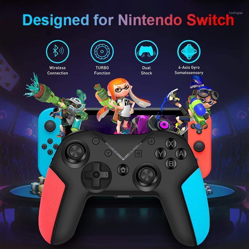 Controladores de jogos Joysticks Bluetooth Joystick Jogos Console para controlador de comutação Vibração sem fio Gamepad Acessórios1