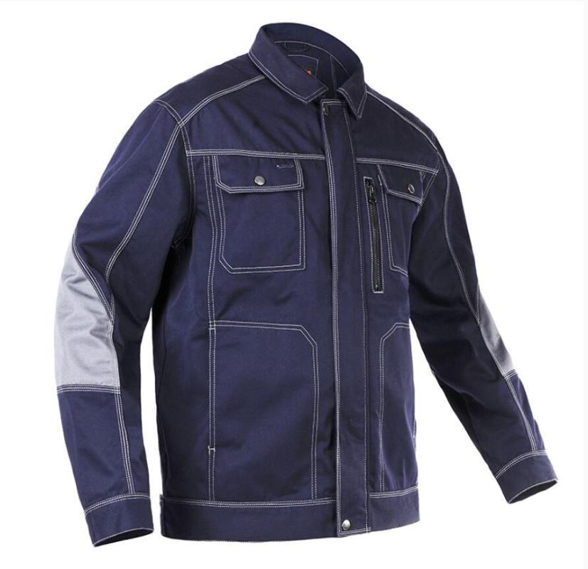 Utensili uniforme Molla Autumn Wear Wear Jacket Giacca Assicurazione lavoro resistente all'usura Robusta robusta camicia multi-tasca in poliestere cappotto di cotone in poliestere!