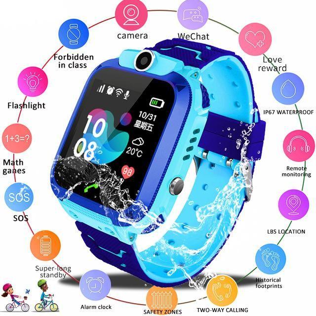 Nouvelle montre intelligente pour les enfants Q12B SmartWatch Watch Watch pour Android iOS GPS Emplacement DO-Wid-Way Calling 2G SIM Card Meilleur cadeau pour enfants
