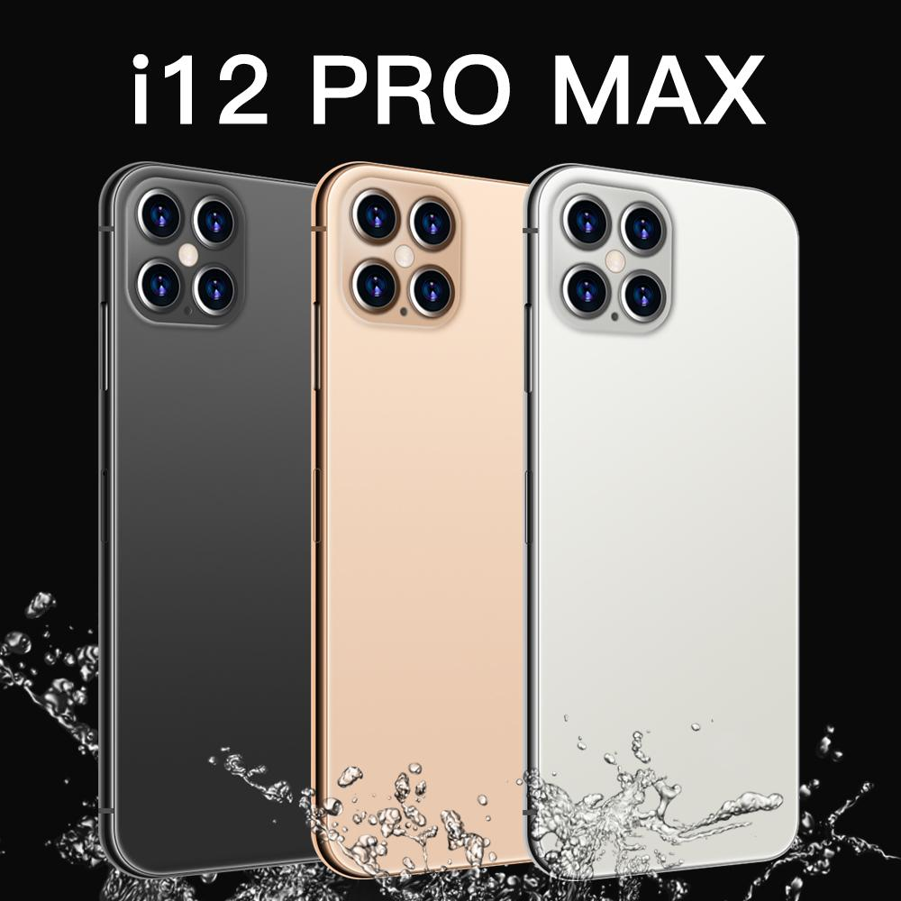 I12 ProMax Phones Newest 6.8 Inch Smartphone Android 10.0 12GB RAM 512GB ROM 6800mAh Big Battery Deca Core CPU Mobile Phone 24+48MP Rear Cameras