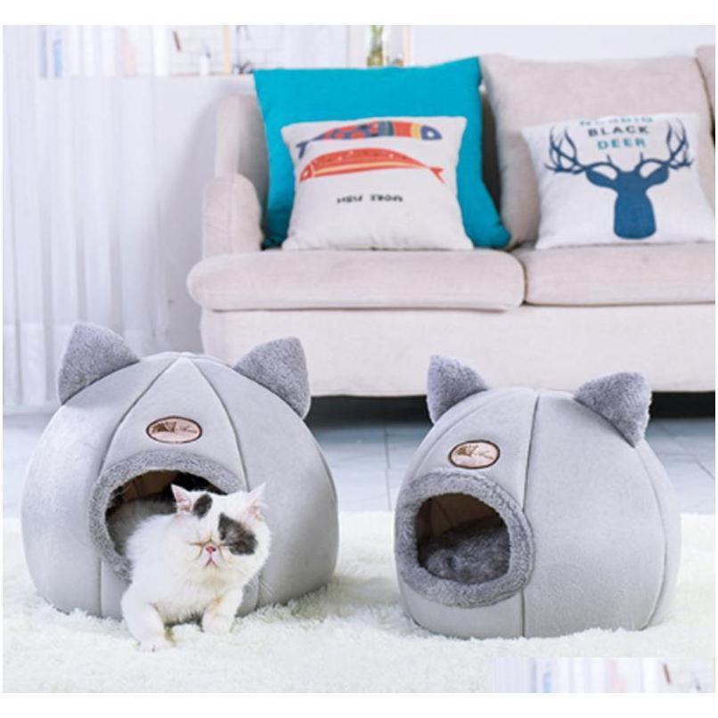 Chat chat chat chat chien coussin coussin chenil pour petite taille moyenne de gros chiens chats hiver hiver hiver house jvmhz