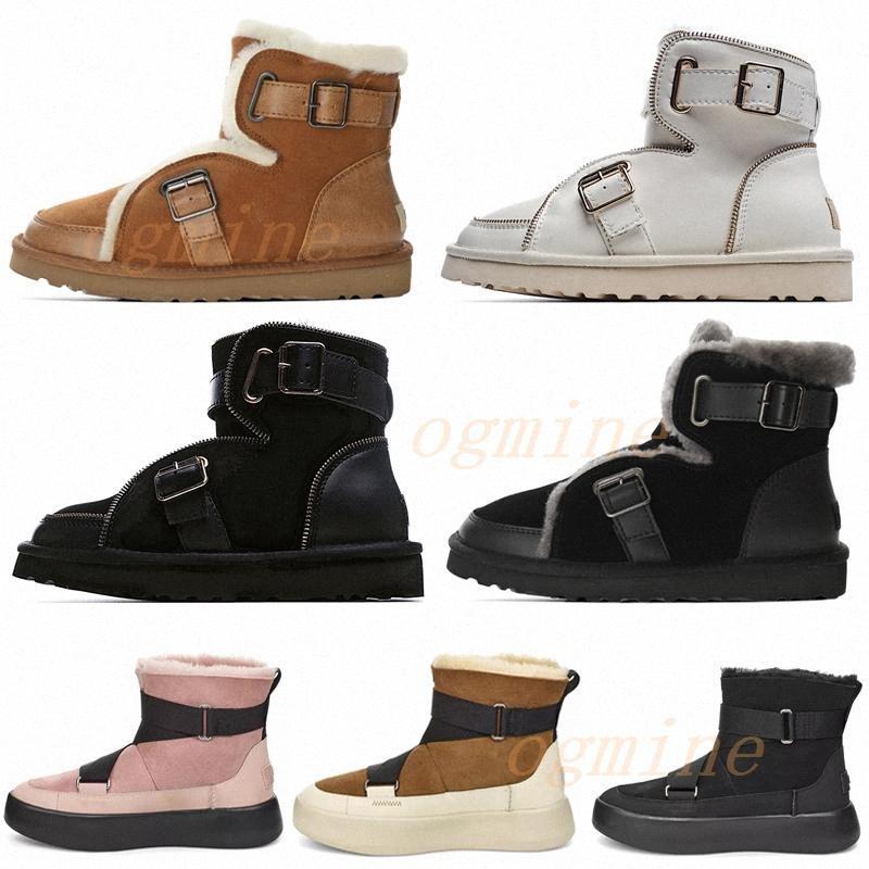 2021 Designer Australian Locomotive Boots Dune Mini fibbia Boot Australia WGG Donne Womens Girls Lady Boot Stivali Snow Half Knee Shorts 22 #