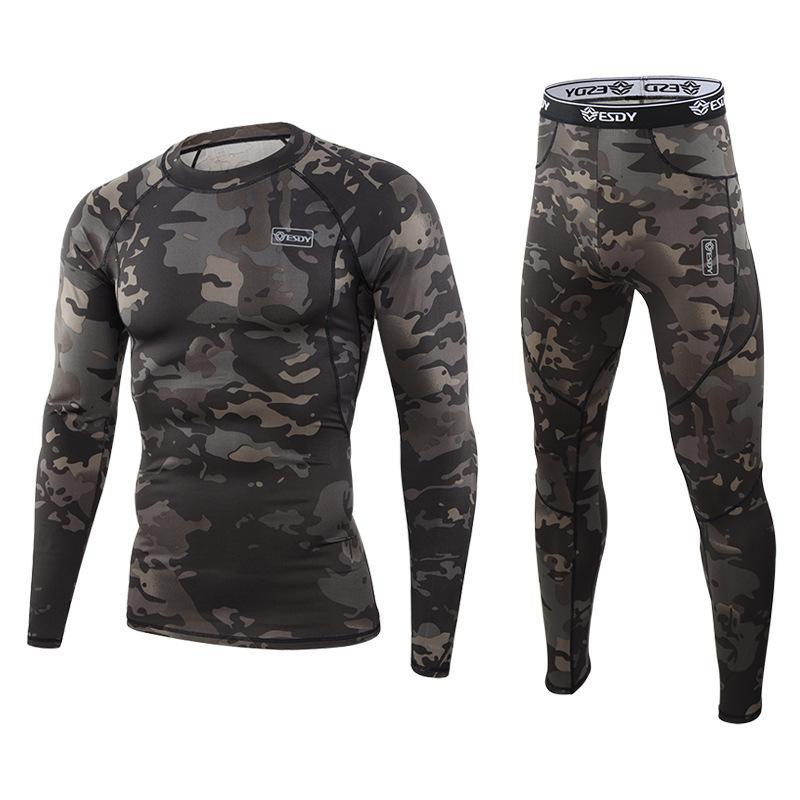 Kış termal setleri sıkıştırma polar ter hızlı kurutma termo iç çamaşırı erkekler giyim