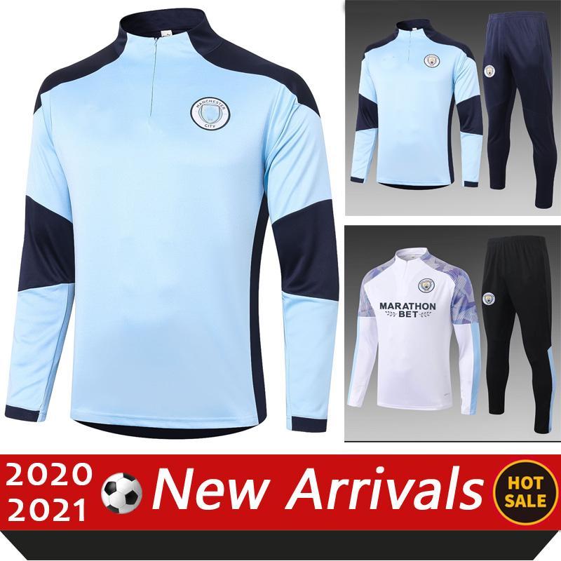 20 21 hombres Manchester Sportswear Fútbol de entrenamiento de fútbol Tuta da Uomo Sportiva Soccer 20 21 Survetement Foot Chandal Futbol Survêtement