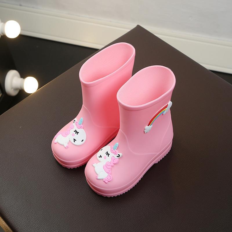 Ragazza per bambini Rainbow Horse Four Seasons Scarpe da acqua antiscivolo Impermeabile Rain Young Bambini Baby Boy Boots Boots