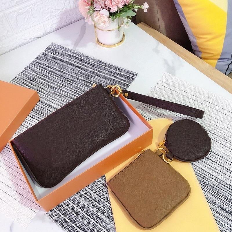Druckkupplung Mode Damen Dame Buchstabe Hochwertige dreiteilige top Klassische Handtasche Outdoor Freizeit Münz Frauen Taschen Brieftasche PQRDH