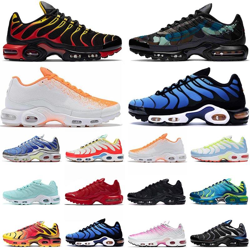 2021 nike air max plus tn se حار بيع TN Plus SE Ultra إمرأة أحذية رجالي الاحذية الثلاثي أسود أبيض فرط الأزرق أحذية رياضية المدربين EUR 46