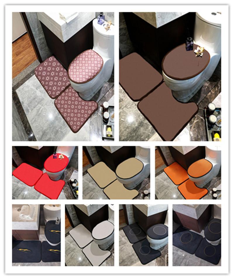 Serie de tendencias Cubiertas de asiento de inodoro Conjuntos de puertas interiores Mats U Mats Conjuntos Accesorios de baño ecológicos