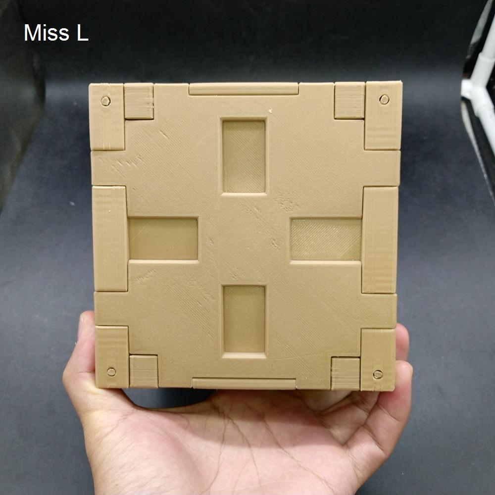 13 * 13 * 13 cm سري الصليب لغز مربع الدماغ دعابة صعبة نموذج هدية لعبة لعبة Hobby Pla المواد
