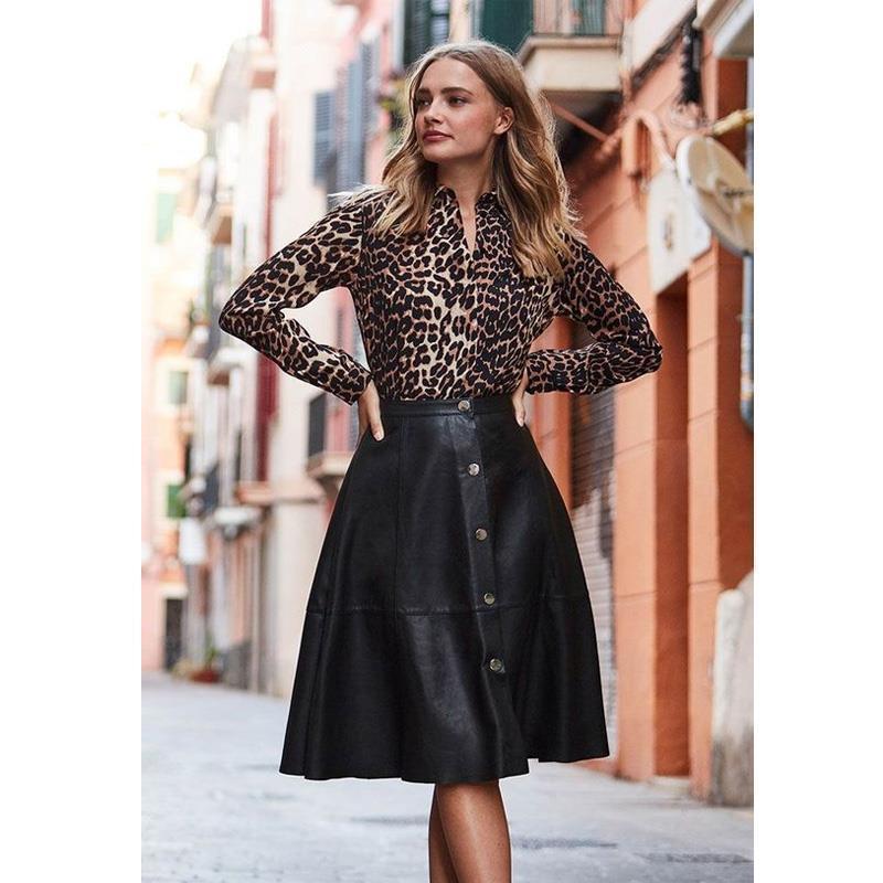 Офисная работа носить BodyCon A-Line юбка с высокой талией длинные юбки женщин наряд женщины искусственная кожаная юбка осенью улица повседневная