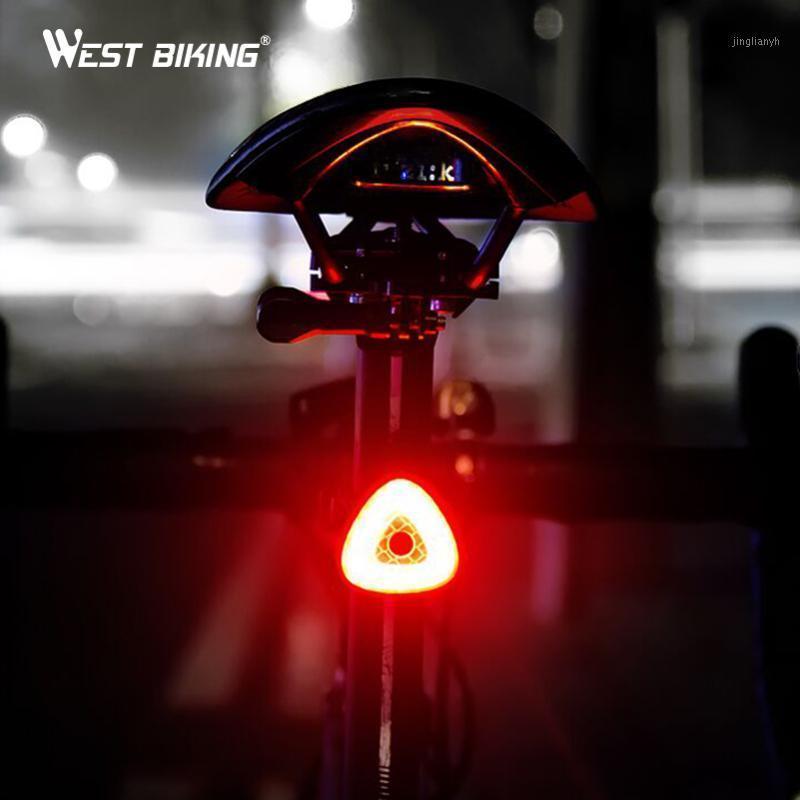 Велосипедные огни Вест на велосипеде задний свет Горная дорога Велосипедный хвост Авто запуск / Стоп Тормозная Ощущение светодиодные велосипедные лампы Taillight1
