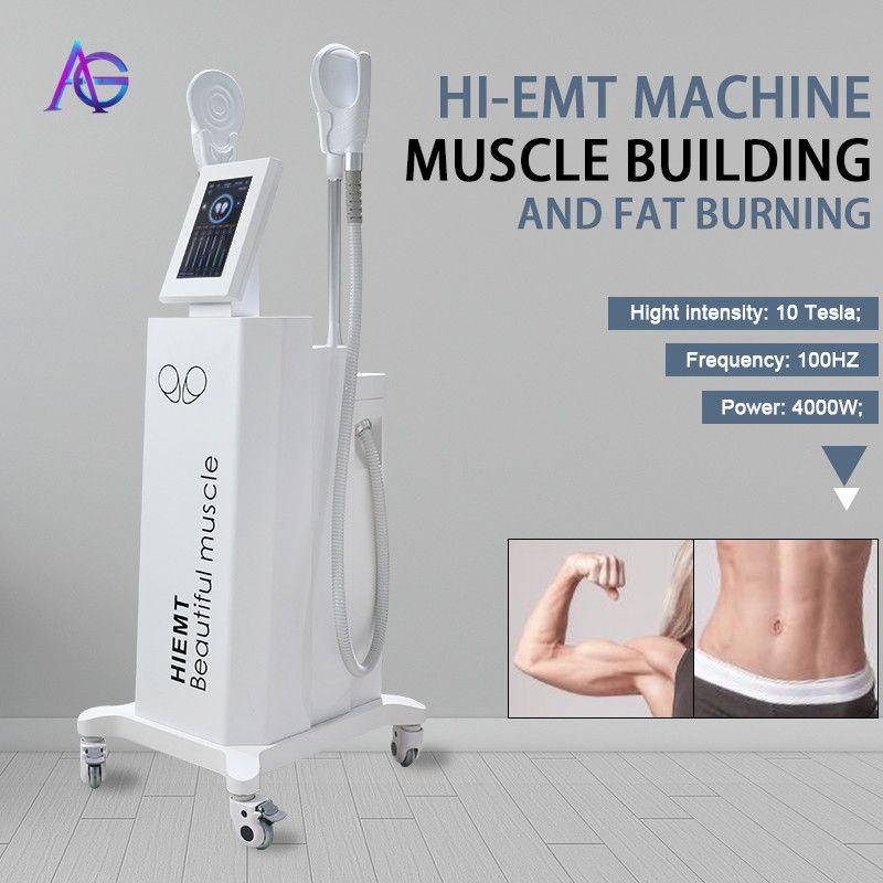 2021 최신 Emslim 하이 - EMT 기계 EMS 전자기 근육 자극 지방 굽기 쉐이핑 Hiemt EMS- 쿠스 뷰티 장비