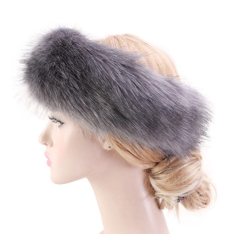 여성 가짜 모피 겨울 따뜻한 머리띠 여성 고급스러운 패션 7 컬러 헤드 랩 플러시 귀마개 머리카락 액세서리 CCA3124