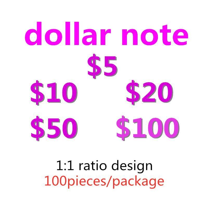 Plus d'argent-J argent faux faux argent jeux billets de banque de jouets pour enfants Jeu USD accessoires accessoires spéciaux réaliste USA Movie Dollars adultes TJITM
