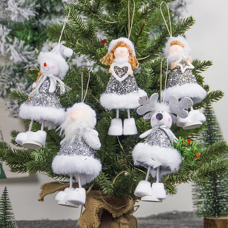 Nouvelle Arrivée Jolie poupée Girly Pends de Noël Pendentifs suspendus Ornements cadeaux Noël Nouvel An Party Décor Décoration de la maison