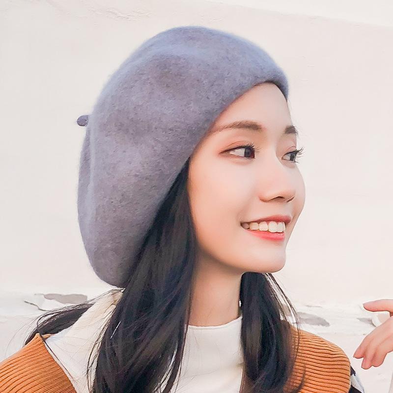 Женская шляпа берет французский стиль твердой повседневной винтажной старинной плоской шапки имитация шерсти теплые берцы шапки шляпы Femme Aldult Caps
