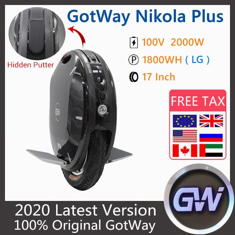 2020 Gotway Begode Nikola Plus monocycle électrique 17 pouces 2000W Moteur Scooter Scooter 100V 1230Wh 1800Wh 1845ww montheel scooter