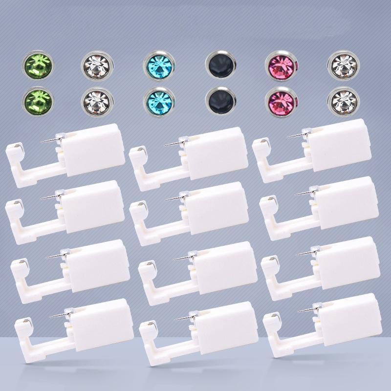 Einweg Sterile Ohr Piercing Unit Knorpel Tragus Helix Piercing Gun Kein Schmerz Piercer Werkzeug Maschine Kit Stud Wählen Sie Design 0492