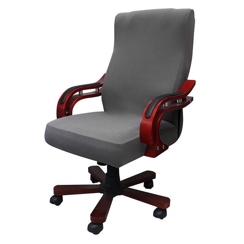 Cubiertas de silla Tamaño universal Gaming Oficina de computadora Sillón Elástico Solicitud de asiento Brazo de asiento Estiramiento Rotación