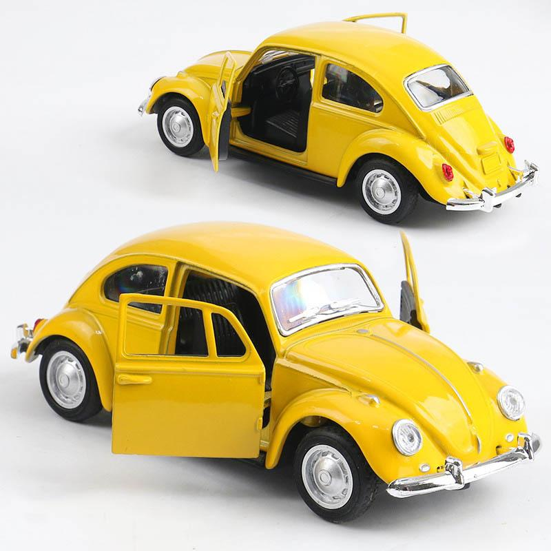 Simulation haute Retro Classic Volkswagen Beetle, 1:36 Modèles de voitures en alliage, Métal Diecasts, Véhicules de jouets Tirez en arrière, Livraison Gratuite Y1130