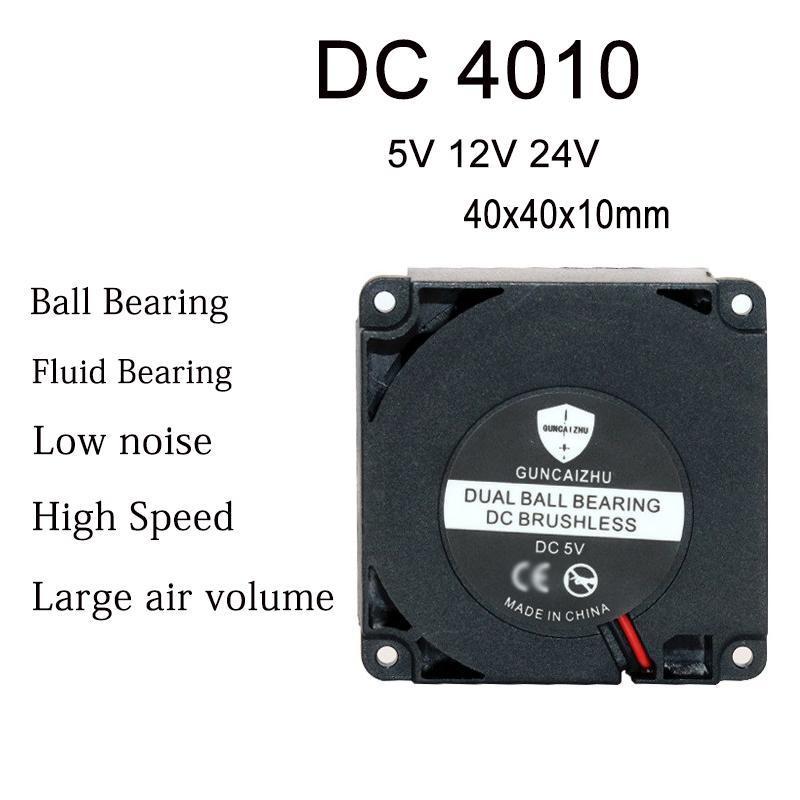 DC 5V12V24V 4010 40x40x10mm Santrifüj Türbin Blower Rulman Sıvı Taşıyan 7500 RPM 3D Yazıcı Soğutma Fanı