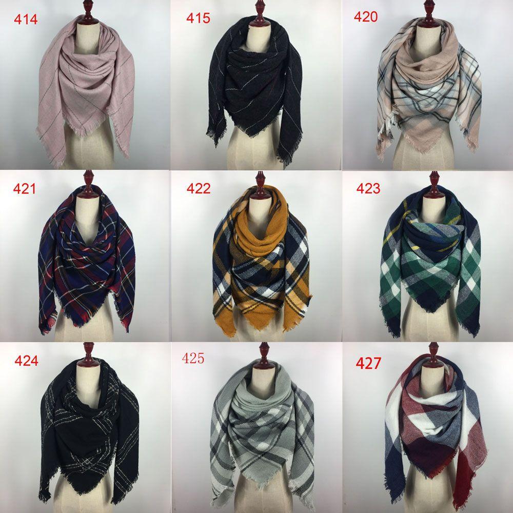 Lady Kadınlar Kız için Wholesale140x140cm kış cuadros akrilik kaşmir bufandas ekose şal eşarp markası tasarımcı battaniye şal