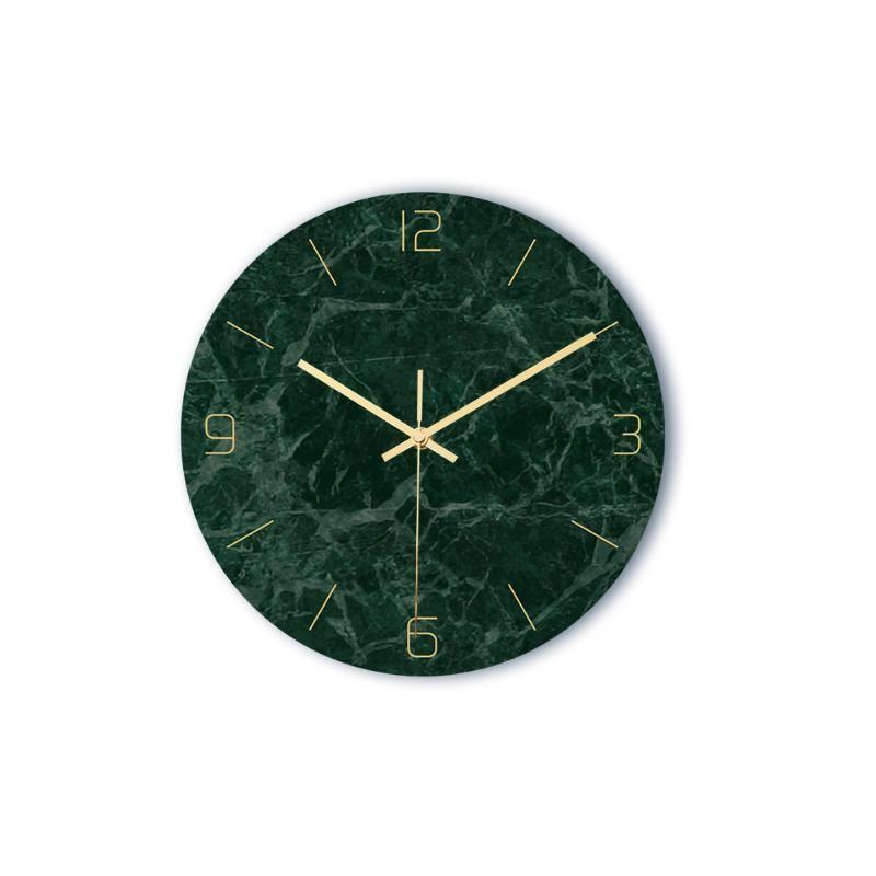 Duvar Saatleri CC001 Işık Lüks Mermer Saat Akrilik Malzeme UV Baskı Oturma Odası Dekorasyon