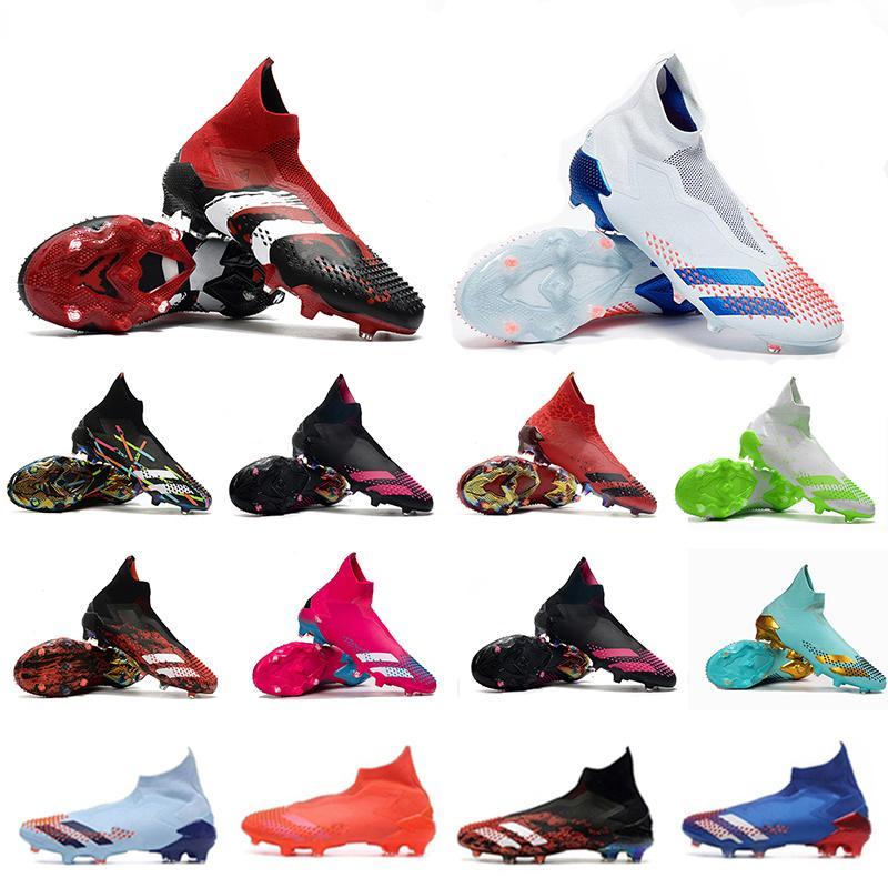 Futbol Çizmeler Pedator 20+ İnsan Yarışı PHARRELL Williams x POGBA GLORY Kırmızı Hunter Paketi Gökyüzü Tonu Takımı Kraliyet Mavi Signa Futbol Ayakkabıları Cleats2