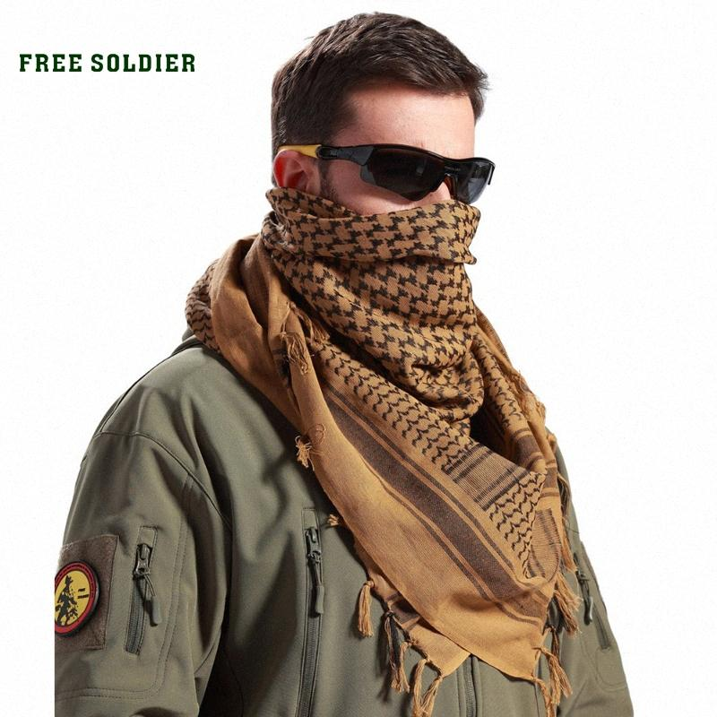 FREE SOLDIER Outdoor Sports Tactical Male &Women Scarf For Cycling Windproof Thicken Mask Scarf For Head Neck BlAw#