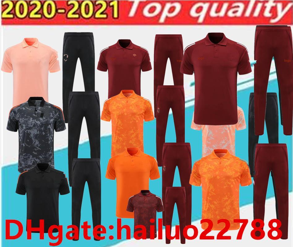 2020 2021 Gerçek Madrid Futbol Polo Gömlek Set Chandal Yetişkin Futbol Eğitim Giysileri Koşu, Arsene Kısa Kollu Eğitim Giysileri.