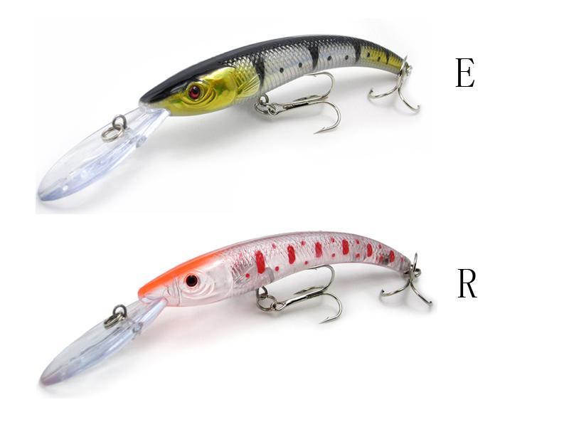 Lot 10 FISHING LURES CRANKBAIT HOOKS 16.1g/15.5cm