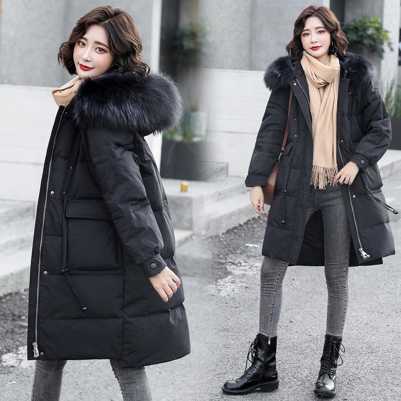 E0UZ пальто бренд малыш зима вниз корейская куртка теплый карман держите желтые белые ватные пальто