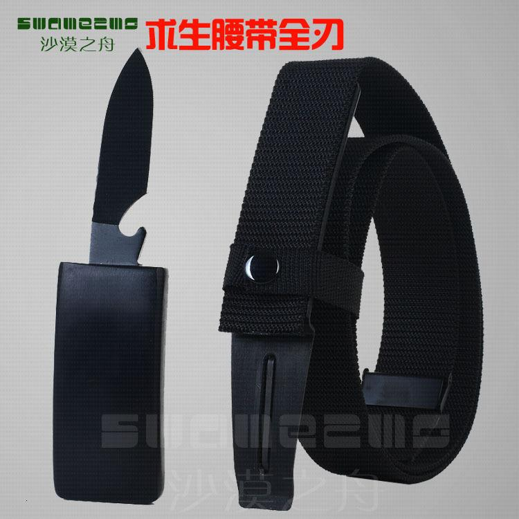 Cuchillo de cinturón de supervivencia de autodefensa al aire libre de la lona de la hebilla suave 511
