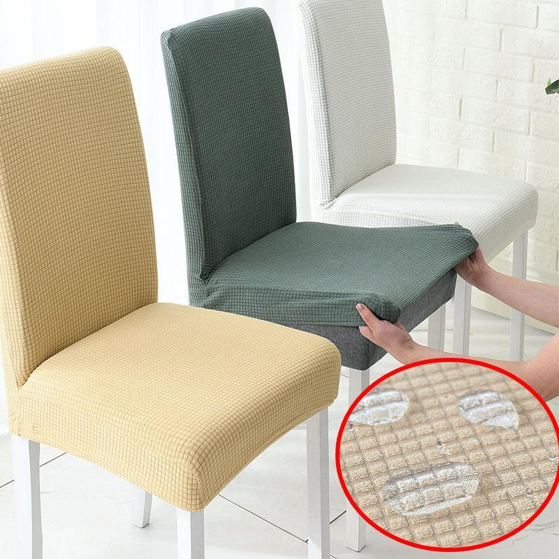 Sandalye Kapakları Suya Dayanıklı Kumaş Masa Örtüsü Backelastic Ile Funda Silla Comedor Bilgisayar Koltuğu