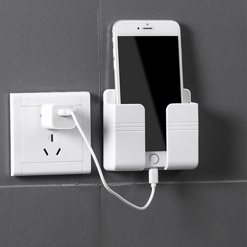 2 STÜCKE Multifunktionale Handyhalter Wandregal Organizer Rack Badezimmer Küchenartikel Zeugs selbstklebende Lagerung