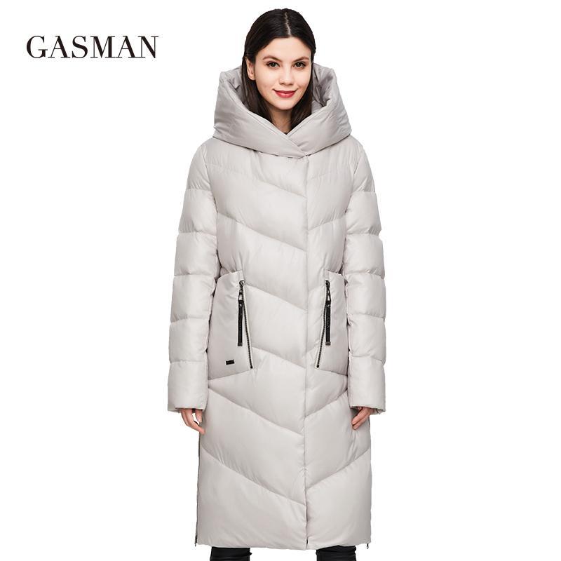 Gasman 2020 Fashion Marca Down Parkas Chaqueta de invierno para mujer Abrigo de mujer Nuevo Largo Outwear Outwear Cálido Femenino Chaqueta más Tamaño 206 201124