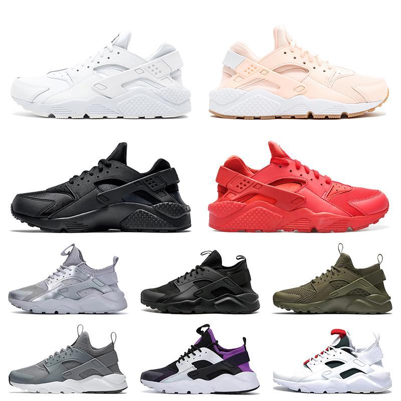 Nike Air Huarache الأحذية شحن مجاني Huarache الترا النساء الرجال تشغيل الثلاثي الأبيض الأسود الوردي الأحمر Huaraches الرجال المدربين أحذية رياضية النساء الأحذية الرياضية