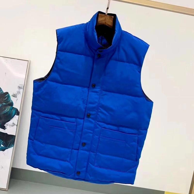Даун куртка жилет держит теплый мужской стилист зимняя куртка мода жилет мужчин и женщин Утолщение наружного пальто необходимое размера холодной защиты S-2XL