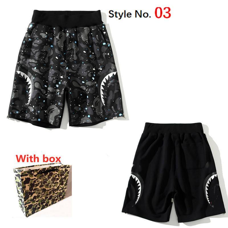 Pantaloncini di cotone da uomo Sport Pantaloni da spiaggia sciolti traspiranti Fashion Hip-Hop Casual Streetwear Streetwear Shorts con etichetta e scatola