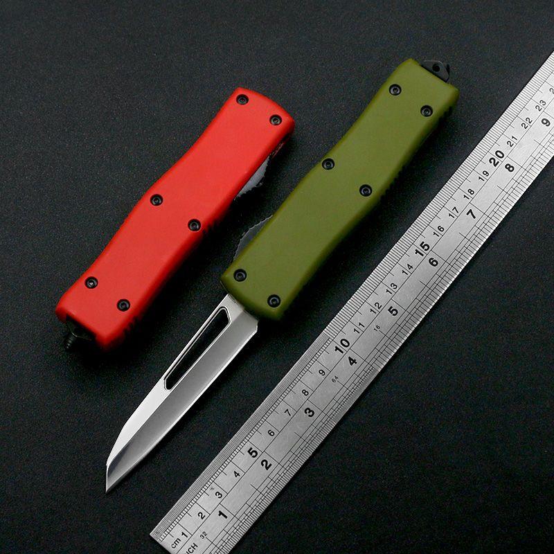 Nuovi 4 stili X85 440C Specchio Light Trattamento della lama Zinco Alluminio Maniglia in lega di alluminio Outdoor EDC Tactical Automatic Knife Regalo di festa