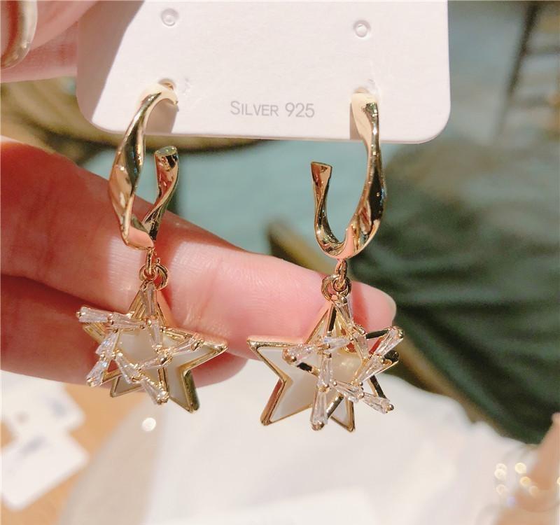 charme barroco coreano zircão micro-embutido brincos bonito moda jóias brincos de Natal mulheres góticas01