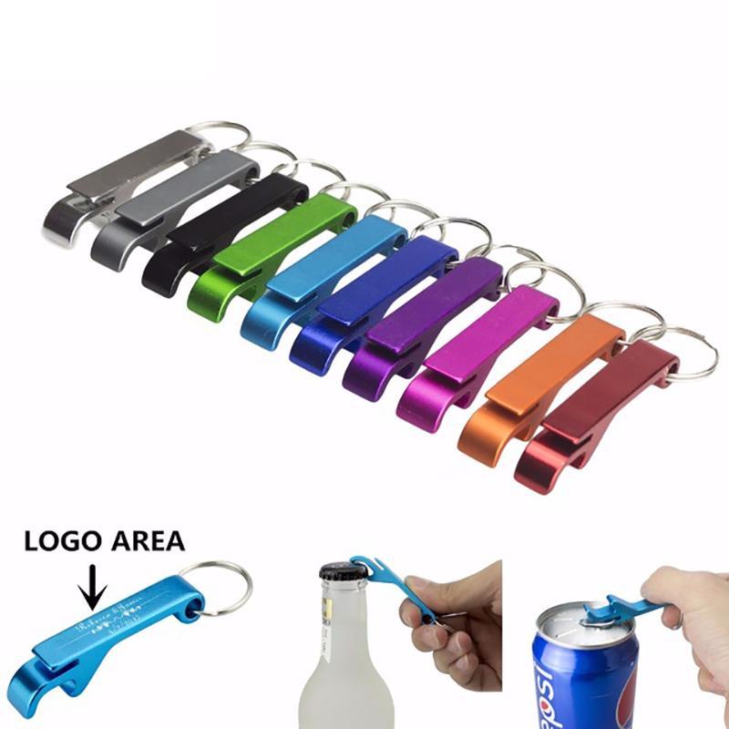 Tragbare 4 in 1 Flaschenöffner Schlüsselring-Kette Mini Bier Flaschenöffner Aluminiumlegierung Küche Keychain Metall Bier-Stab-Werkzeug DHL geben