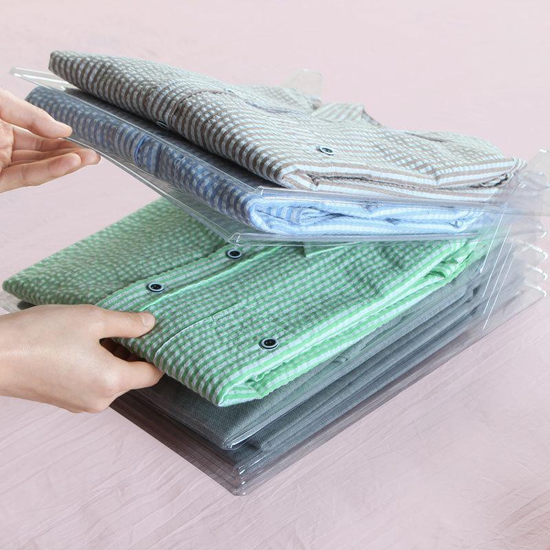 10 Layer Clothes Storage Board Fold Clothing Organizer Shirt Folder Backpack T-shirt Document Closet Drawer Divider Organizer Z1123