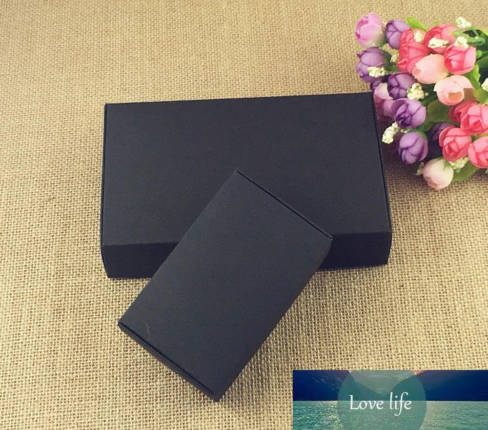 24 шт. / Лот Черная Координация Kraft Paper Tab-Lock Box Белый Свадебный Подарочный Упаковка Свадебные Конфеты Вечерина Форс Мыльные коробки